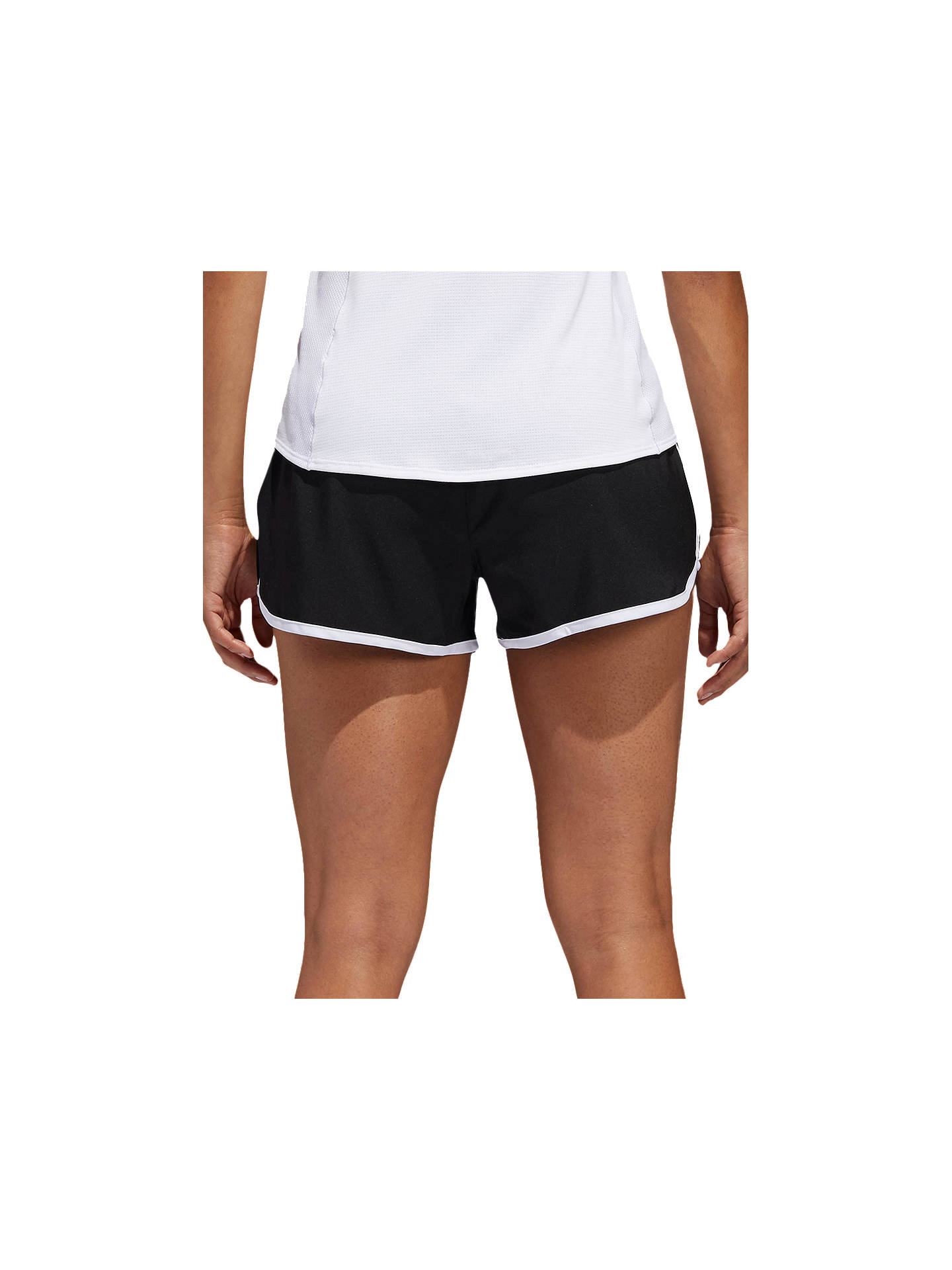 Buy adidas M10 Icon Running Shorts, Black/White, XS Online at johnlewis.com