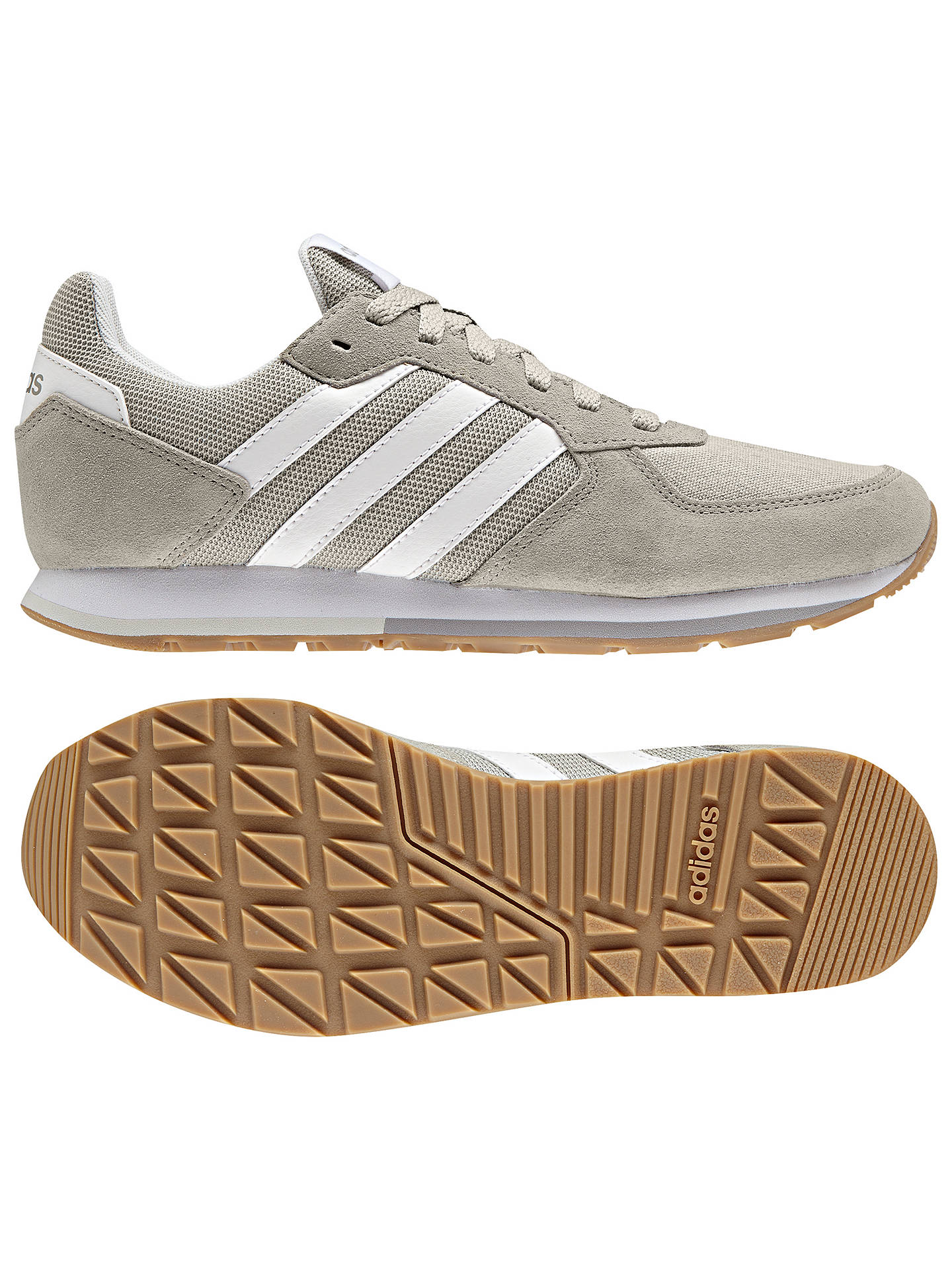 Buy adidas 8K Women's Trainers, Cloud White, 4 Online at johnlewis.com
