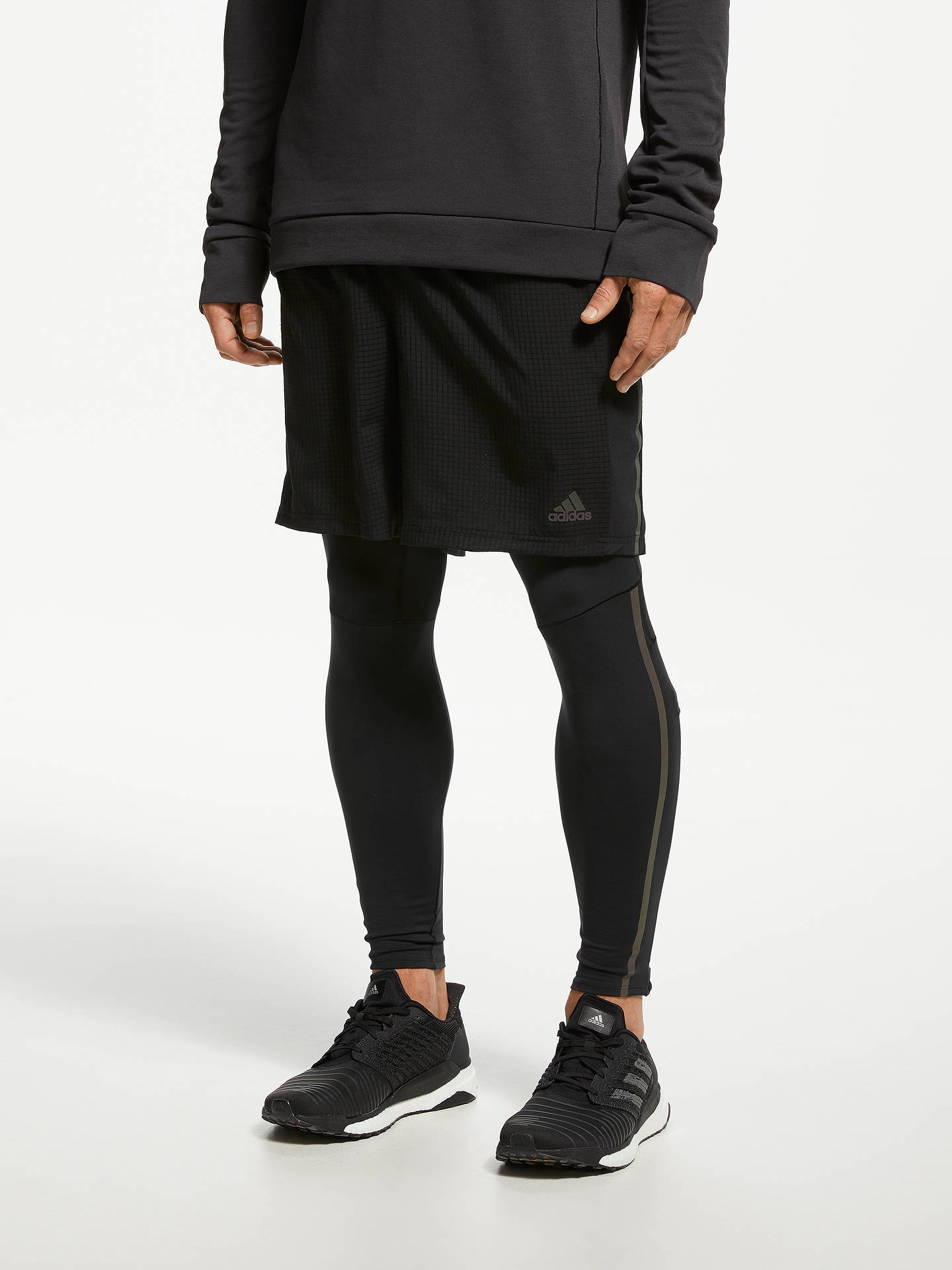 Buy adidas Supernova Running Leggings, Black, XS Online at johnlewis.com