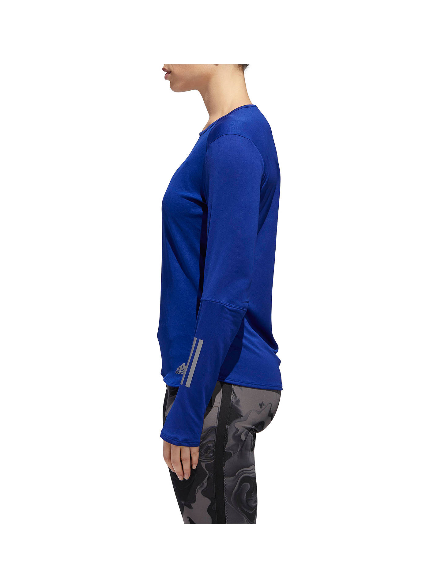Buy adidas Response Long Sleeve Running Top, Mystery Ink, XS Online at johnlewis.com
