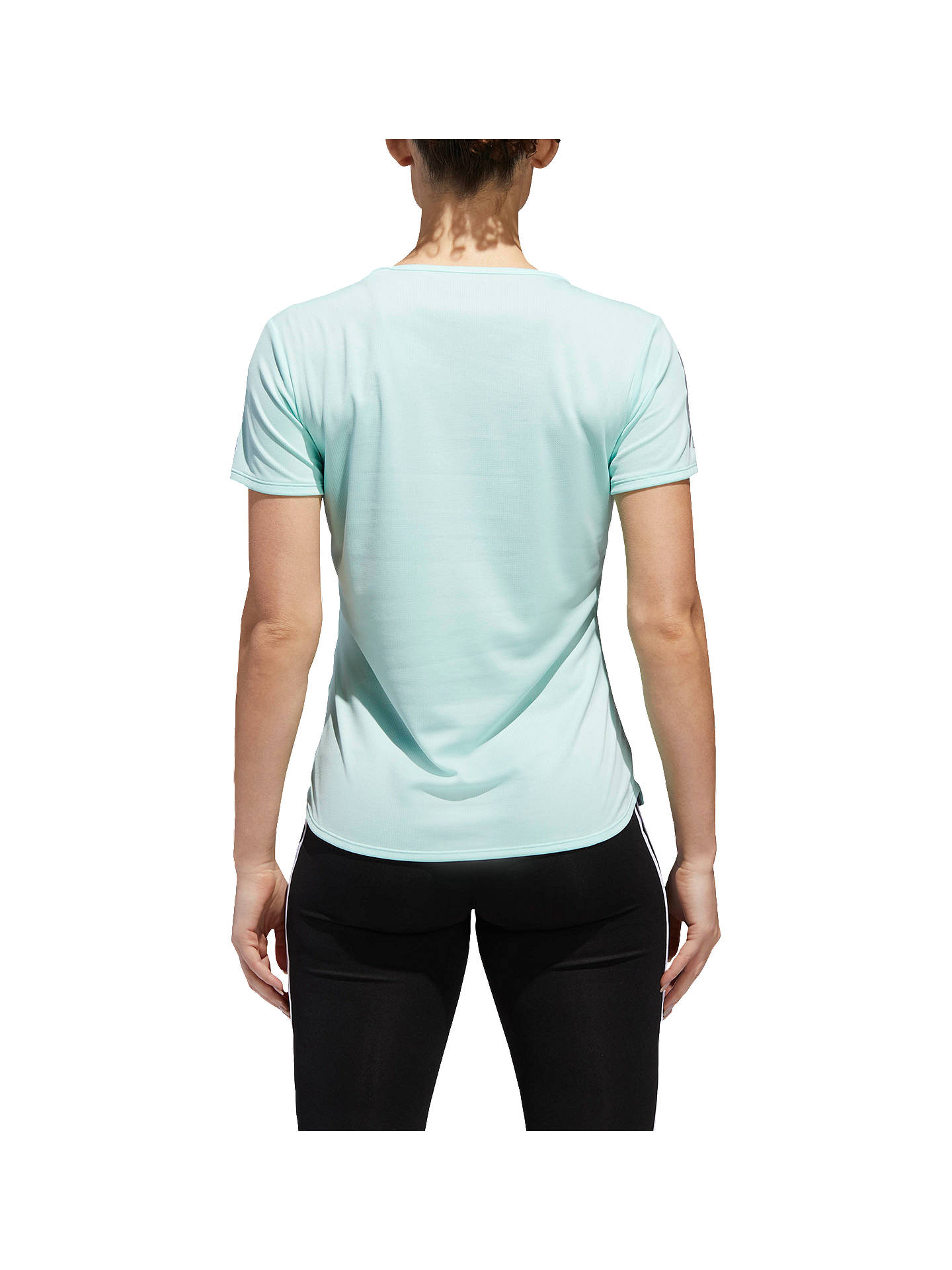 Buyadidas Response Short Sleeve Running T-Shirt, Clear Mint, XS Online at johnlewis.com