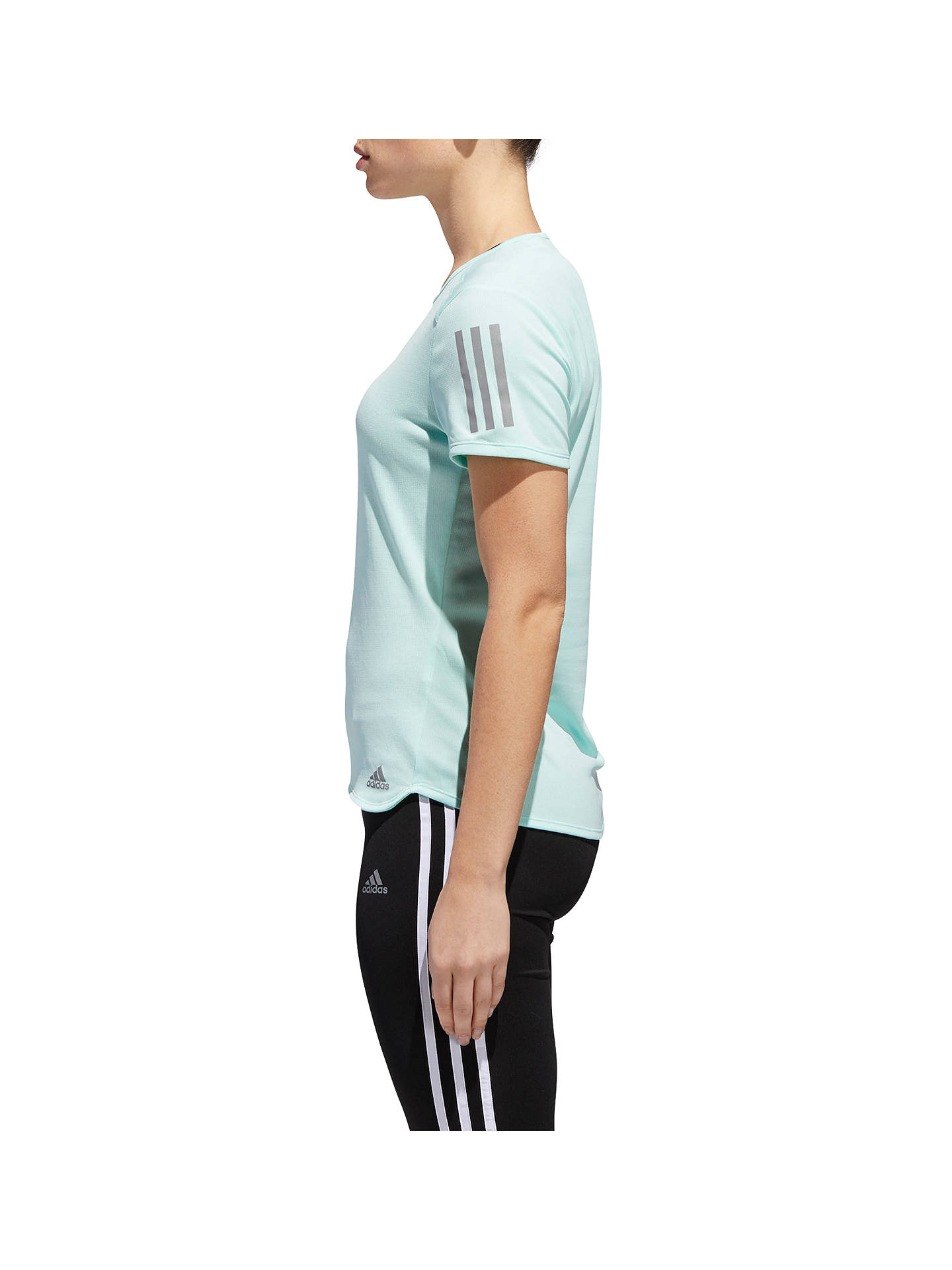 Buy adidas Response Short Sleeve Running T-Shirt, Clear Mint, XS Online at johnlewis.com