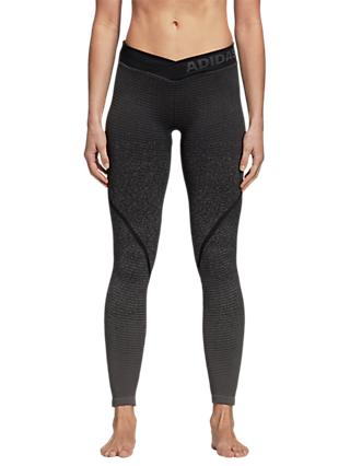 adidas Alphaskin 360 Training Tights, Grey/Black