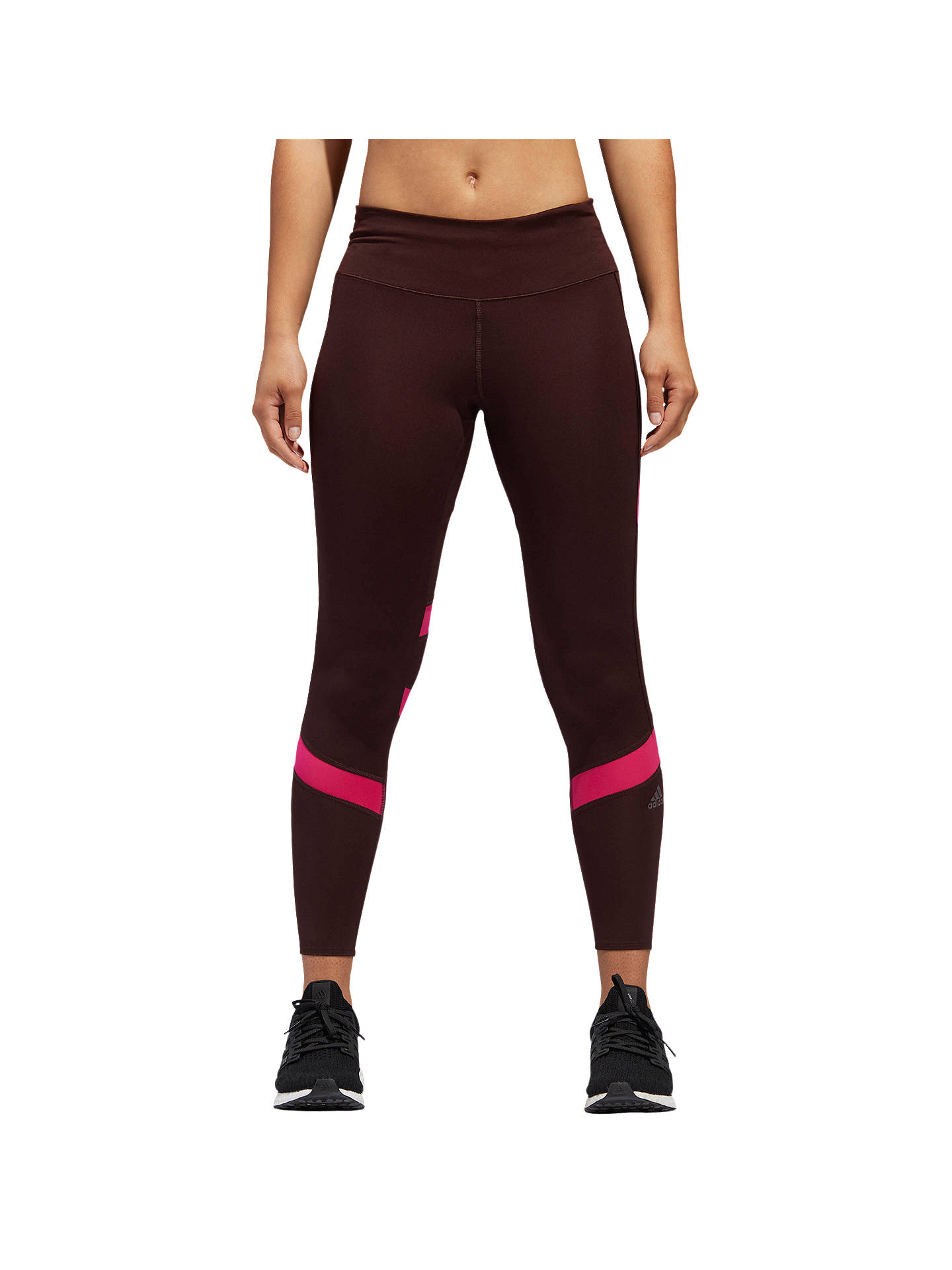 Buy adidas How We Do Printed Running Tights, Night Red/Real Magenta, XS Online at johnlewis.com