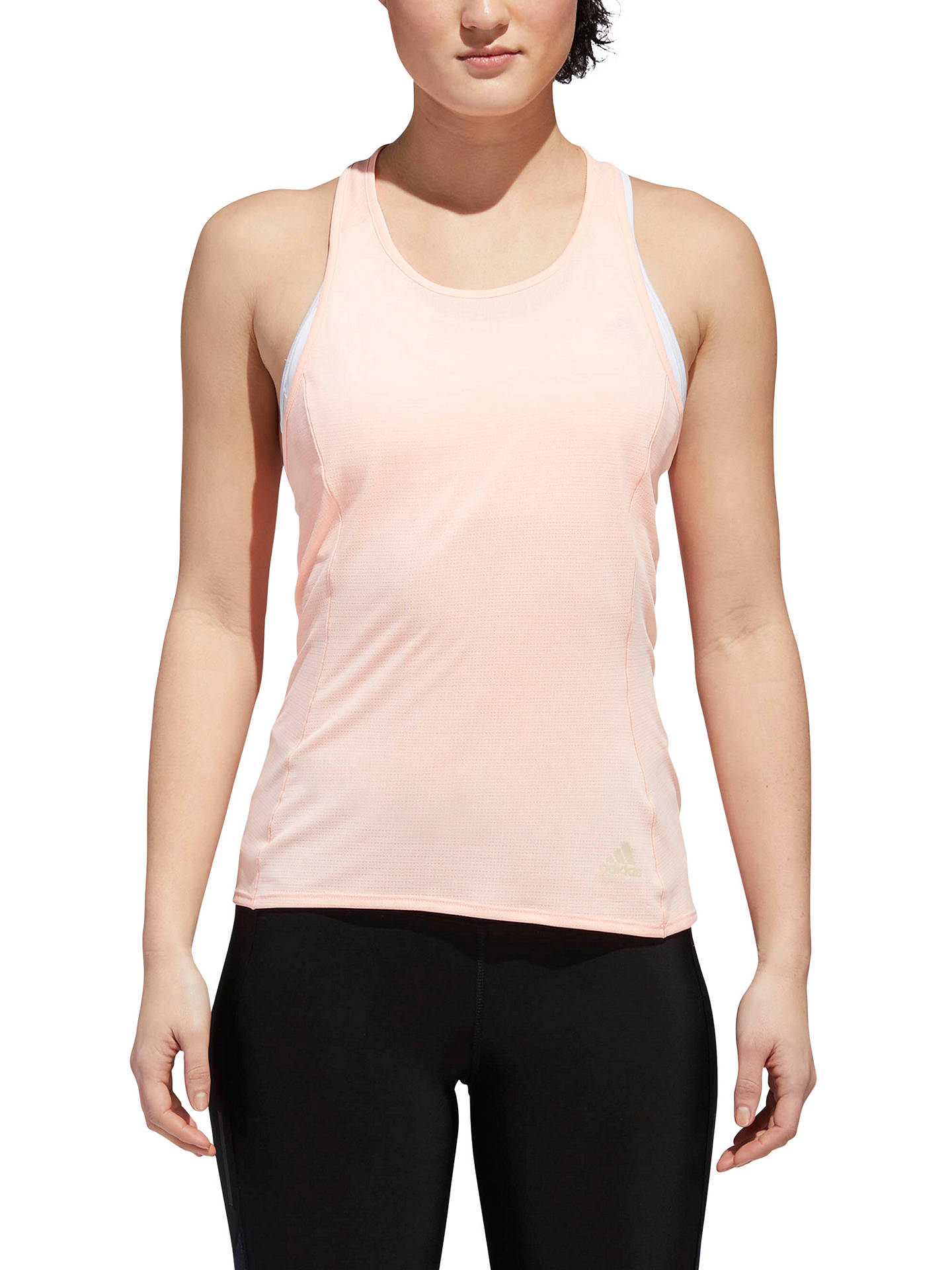 Buy adidas Supernova Running Tank Top, Clear Orange, XS Online at johnlewis.com