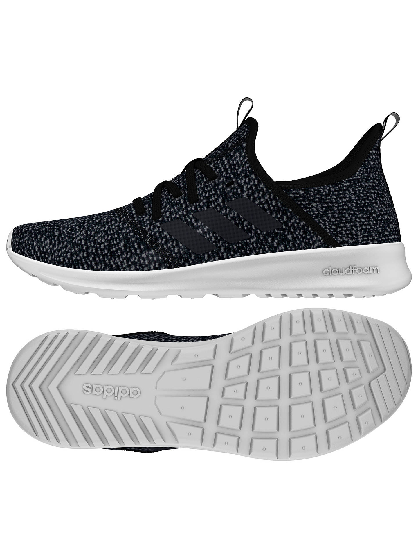 huge selection of 130ac a18ef ... Buy adidas Cloudfoam Pure Women s Trainers, Core Black, 4 Online at  johnlewis.com