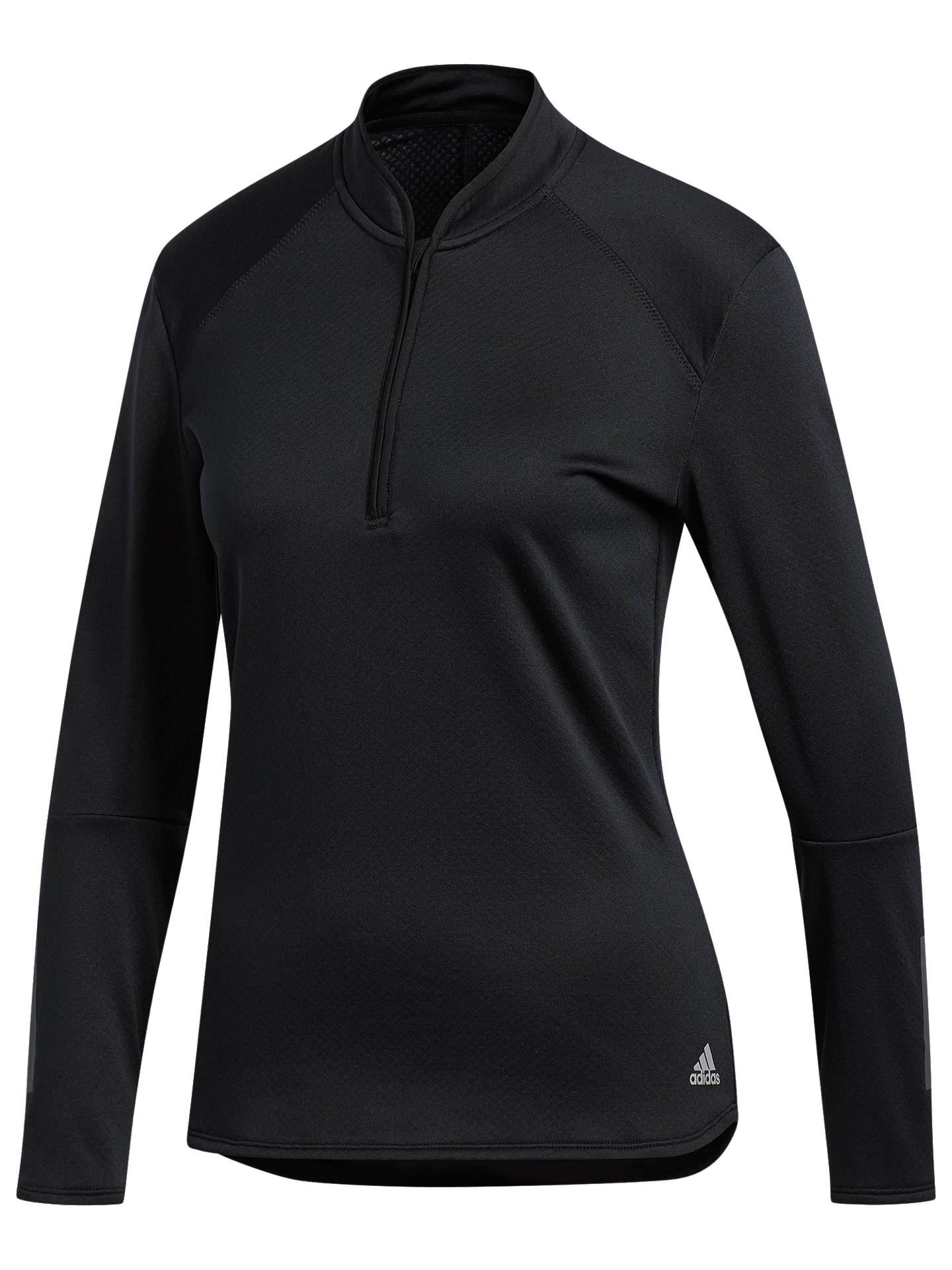Buy adidas Response Pullover Running Top, Black, XS Online at johnlewis.com