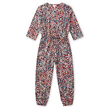 Buy Jigsaw Girls' Confetti Print Jumpsuit, Navy/Multi Online at johnlewis.com