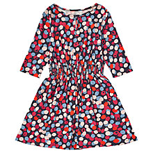 Buy Jigsaw Girls' Scattered Floral Dress, Navy/Red Online at johnlewis.com
