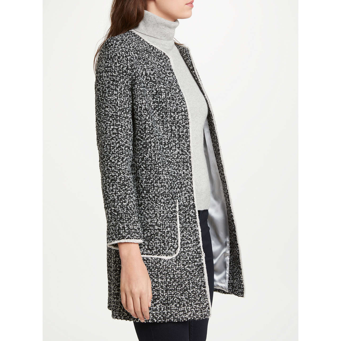 BuyHelene For Denim Wardrobe Alice Jacket, Black/Cream, 8 Online at johnlewis.com