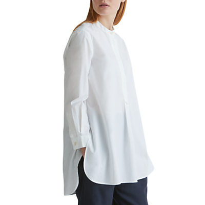Toast Cotton Poplin Tunic Shirt, White