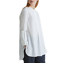Buy Toast Cotton Poplin Tunic Shirt, White Online at johnlewis.com