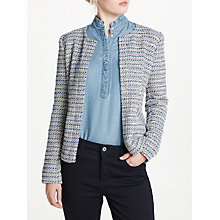 Buy Oui Boucle Jacket, Blue/White Online at johnlewis.com