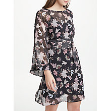 Buy Marella Floral Print Dress, Black/Multi Online at johnlewis.com