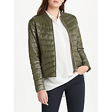 Buy Oui Quilted Padded Jacket, Khaki Online at johnlewis.com