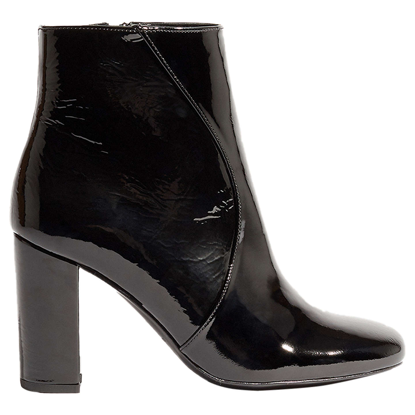 Sale Wide Range Of Karen Millen Patent Block Heel Ankle Boots Footaction Sale Online Free Shipping Purchase gTWzT
