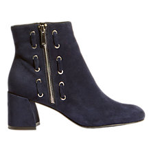 Buy Karen Millen Block Heel Ankle Boots, Navy Online at johnlewis.com