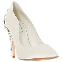 Buy Dune Bridal Collection Be Wedd Embellished Stiletto Court Shoes, Ivory Online at johnlewis.com