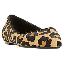 Buy Dune Aeron Pointed Toe Ballet Pumps, Leopard Suede Online at johnlewis.com