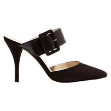 Buy Karen Millen Buckle Stiletto Heel Mule Court Shoes, Black Online at johnlewis.com