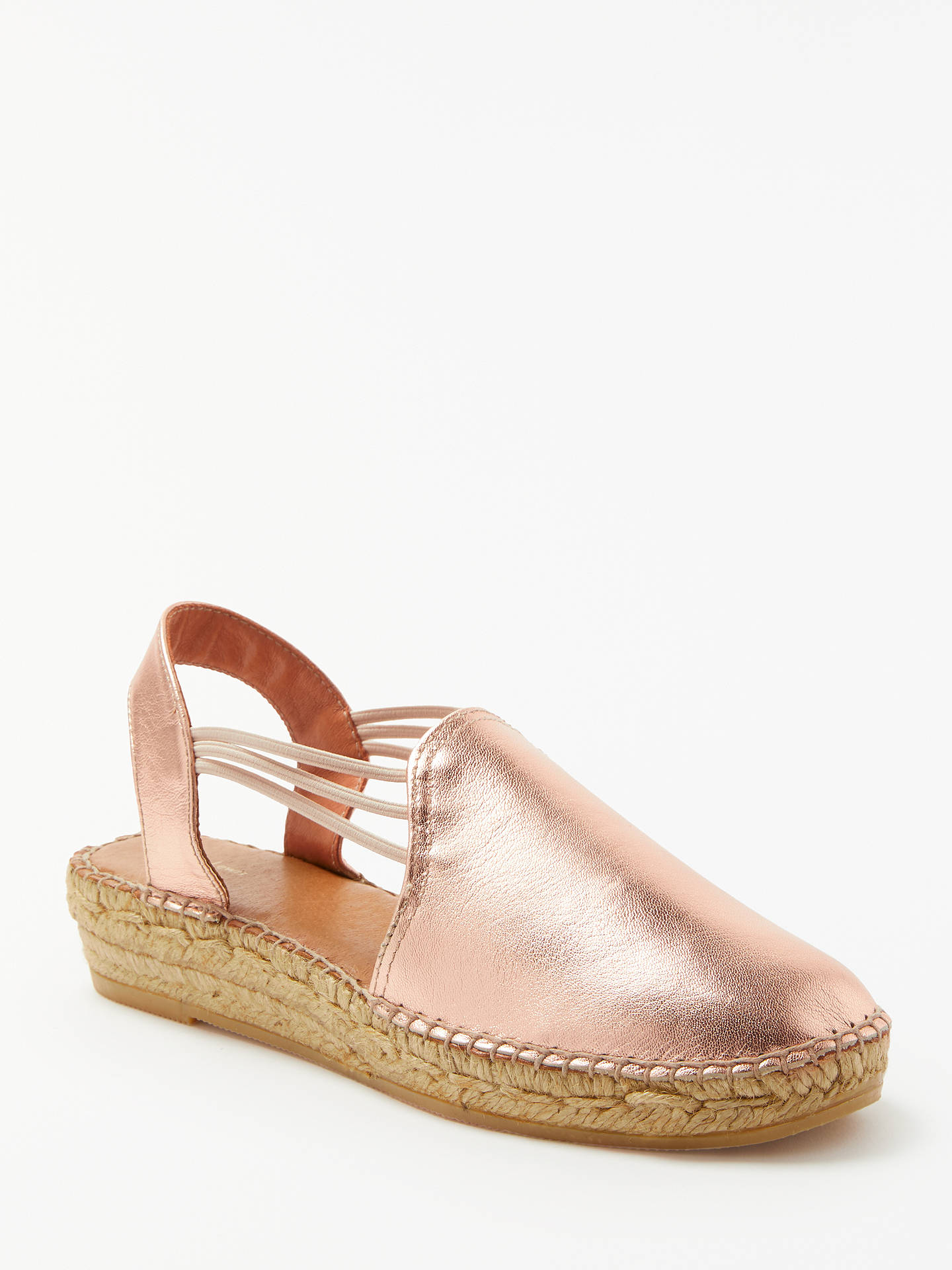 BuyJohn Lewis & Partners Nuria Espadrilles, Rose Gold Leather, 3 Online at johnlewis.com