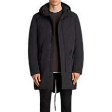 Buy AllSaints Forde Water Repellent Parka, Black Online at johnlewis.com