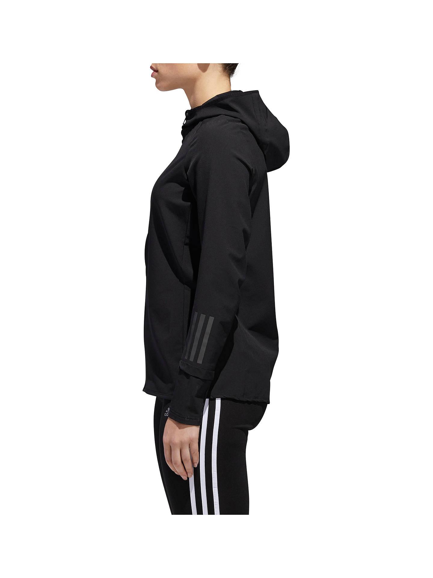 erittäin suosittu kilpailukykyinen hinta virallinen adidas Response Women's Hooded Running Jacket at John Lewis ...