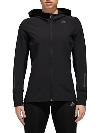 adidas Response Women's Hooded Running Jacket, Black