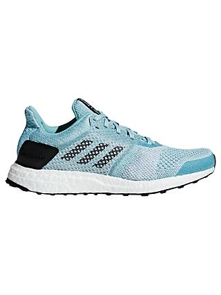 adidas UltraBOOST ST Women's Running Shoes, Blue Spirit/White/Chalk Pearl