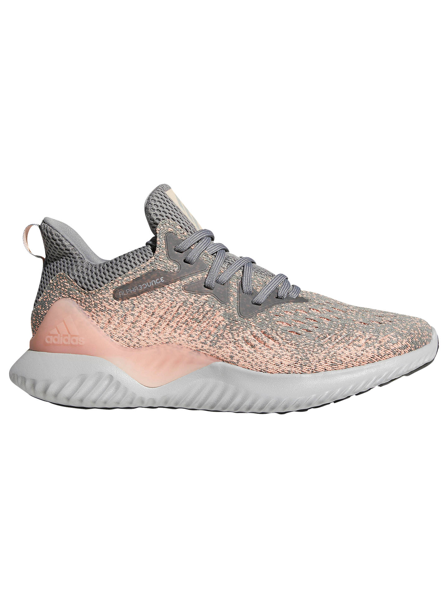 Buyadidas Alphabounce Beyond Womens Running Shoes, GreyClear Orange, 4  Online at johnlewis ...