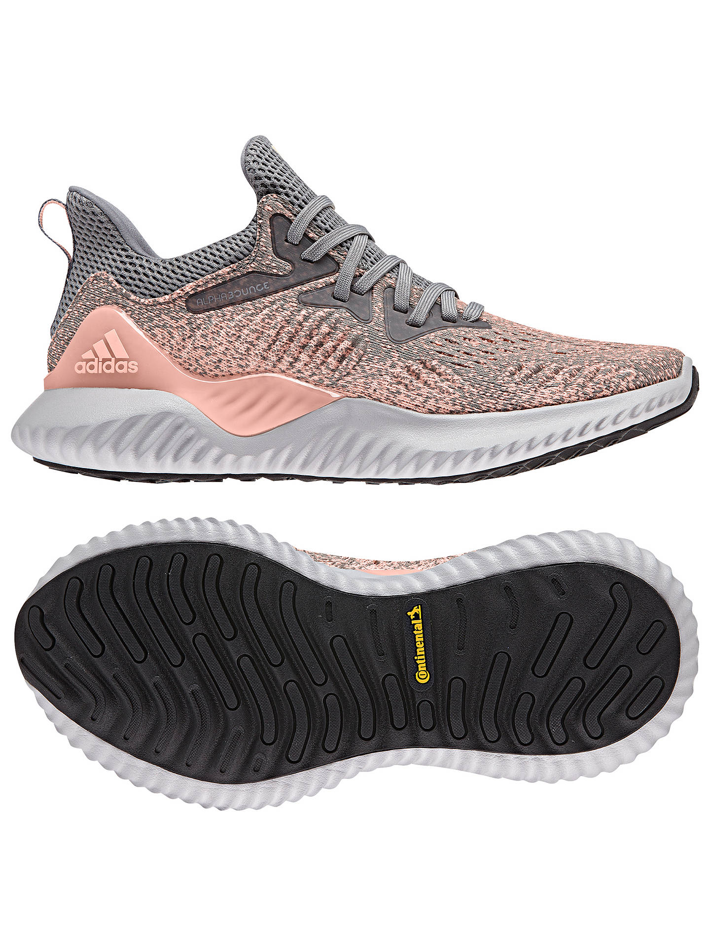 new style bbcce 6de23 ... Buyadidas Alphabounce Beyond Womens Running Shoes, GreyClear Orange,  4 Online at johnlewis ...