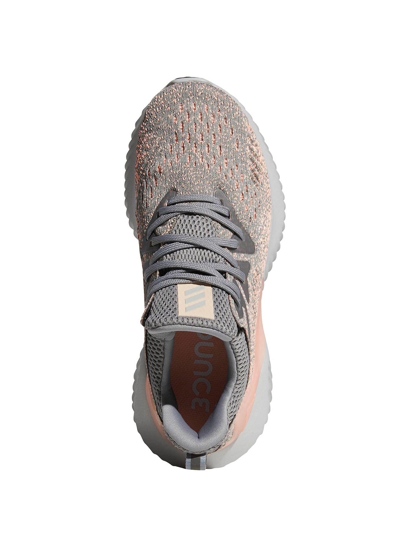 Buy adidas Alphabounce Beyond Women's Running Shoes, Grey/Clear Orange, 4 Online at johnlewis.com