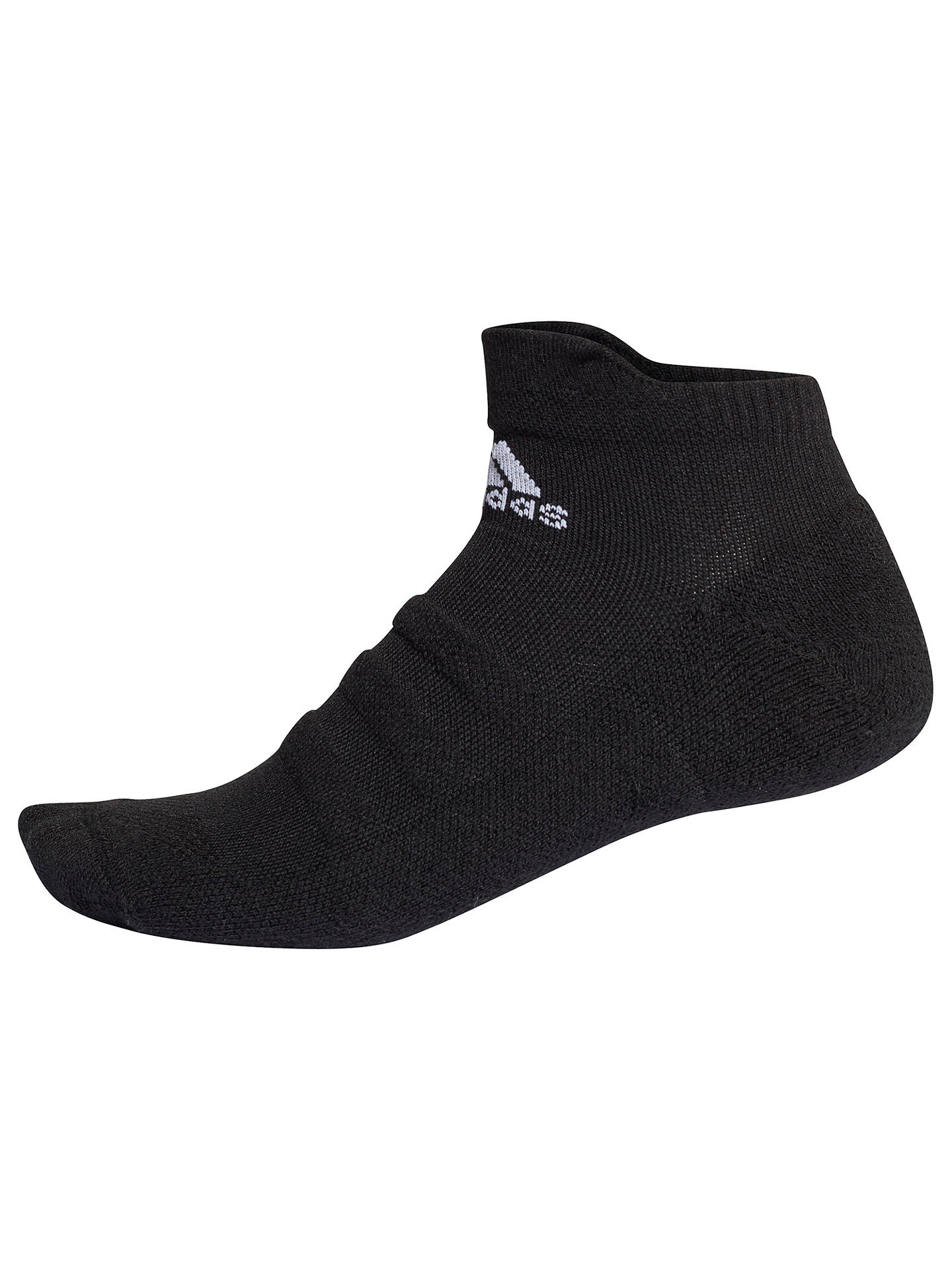 Buyadidas ASK Ankle Training Socks, Black/White, S-M Online at johnlewis.com