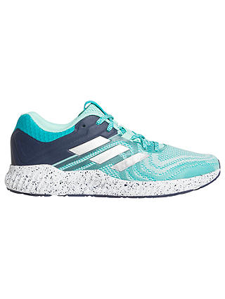 Buy adidas Aerobounce ST Women's Running Shoes, Aqua/Silver Metallic, 4 Online at johnlewis.com