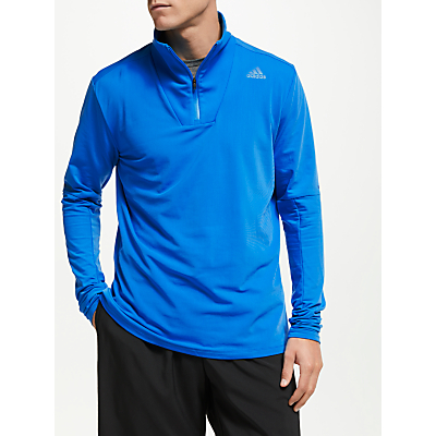 Image of adidas 1/2 Zip Running Top, Bright Blue