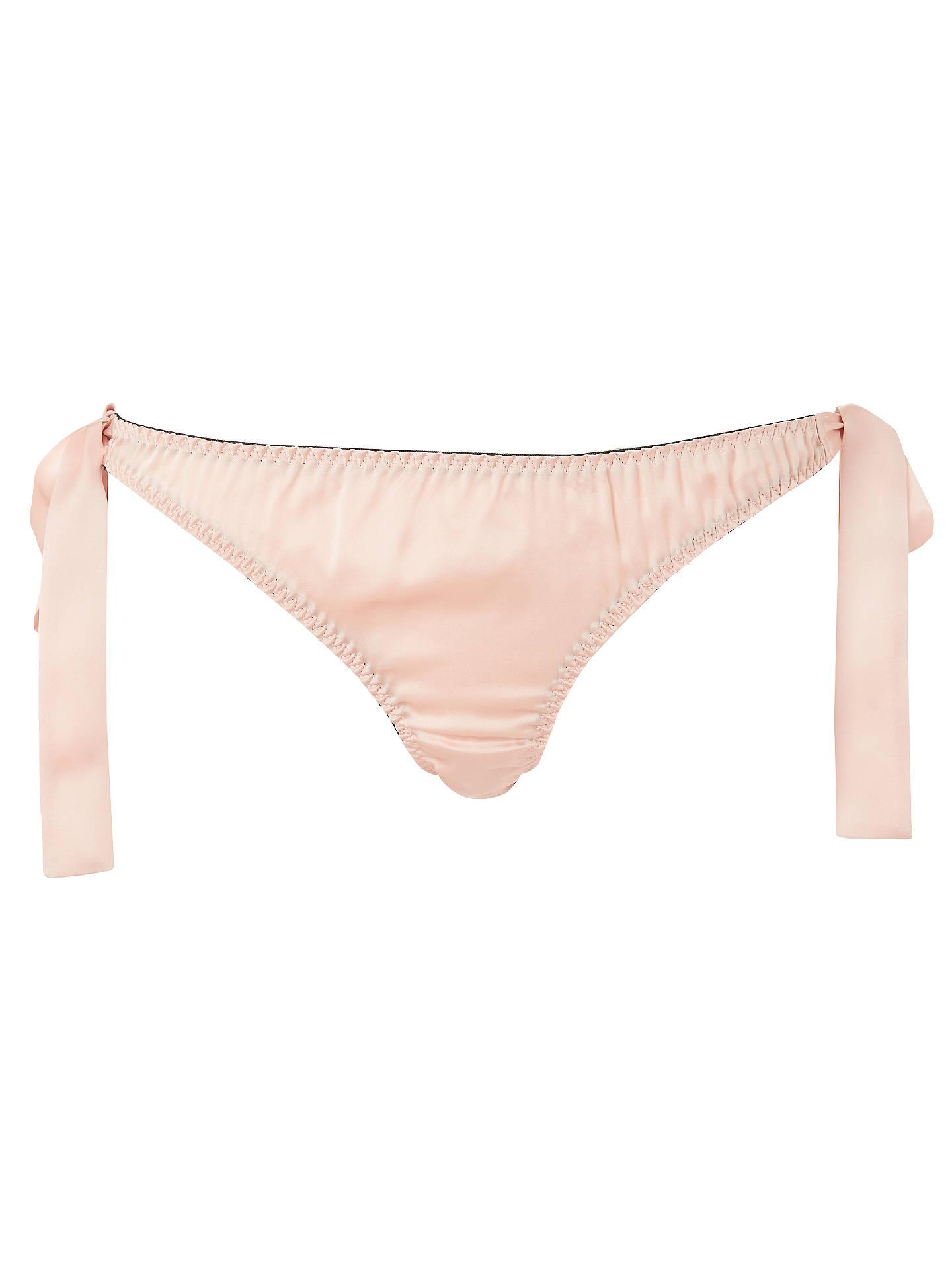 a7d21cde5f9e ... Buy Diane Houston Vivien Silk Lace Tie Side Briefs, Blush, S Online at  johnlewis ...