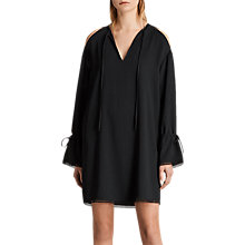 Buy AllSaints Aster Dress, Black Online at johnlewis.com