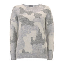 Buy Mint Velvet Camouflage Intarsia Jumper, Multi Online at johnlewis.com