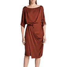 Buy AllSaints Sina Satin Dress, Crimson Red Online at johnlewis.com