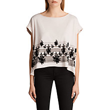 Buy AllSaints Baroco Pina T-Shirt, Cami Pink Online at johnlewis.com