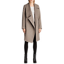 Buy AllSaints Ellis Tia Coat, Oat Brown Online at johnlewis.com