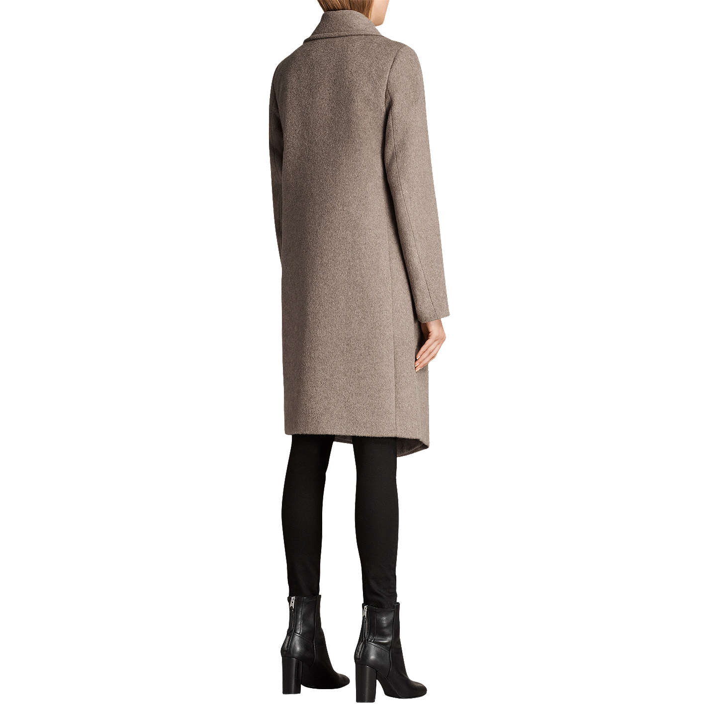 BuyAllSaints Ellis Tia Coat, Oat Brown, 6 Online at johnlewis.com