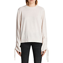 Buy AllSaints Ero Merino Wool Jumper, Almond Pink Online at johnlewis.com