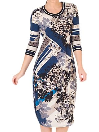 Chesca Floral and Abstract Print Dress, Riviera