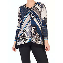 Buy Chesca Floral Print Jersey Top, Riviera Online at johnlewis.com