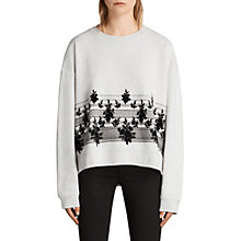 Buy AllSaints Baroco Sweater, Light Grey Marl Online at johnlewis.com