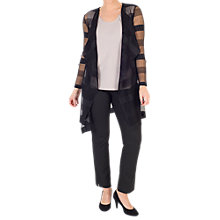 Buy Chesca Sheer Stripe Crush Pleat Jacket, Black Online at johnlewis.com