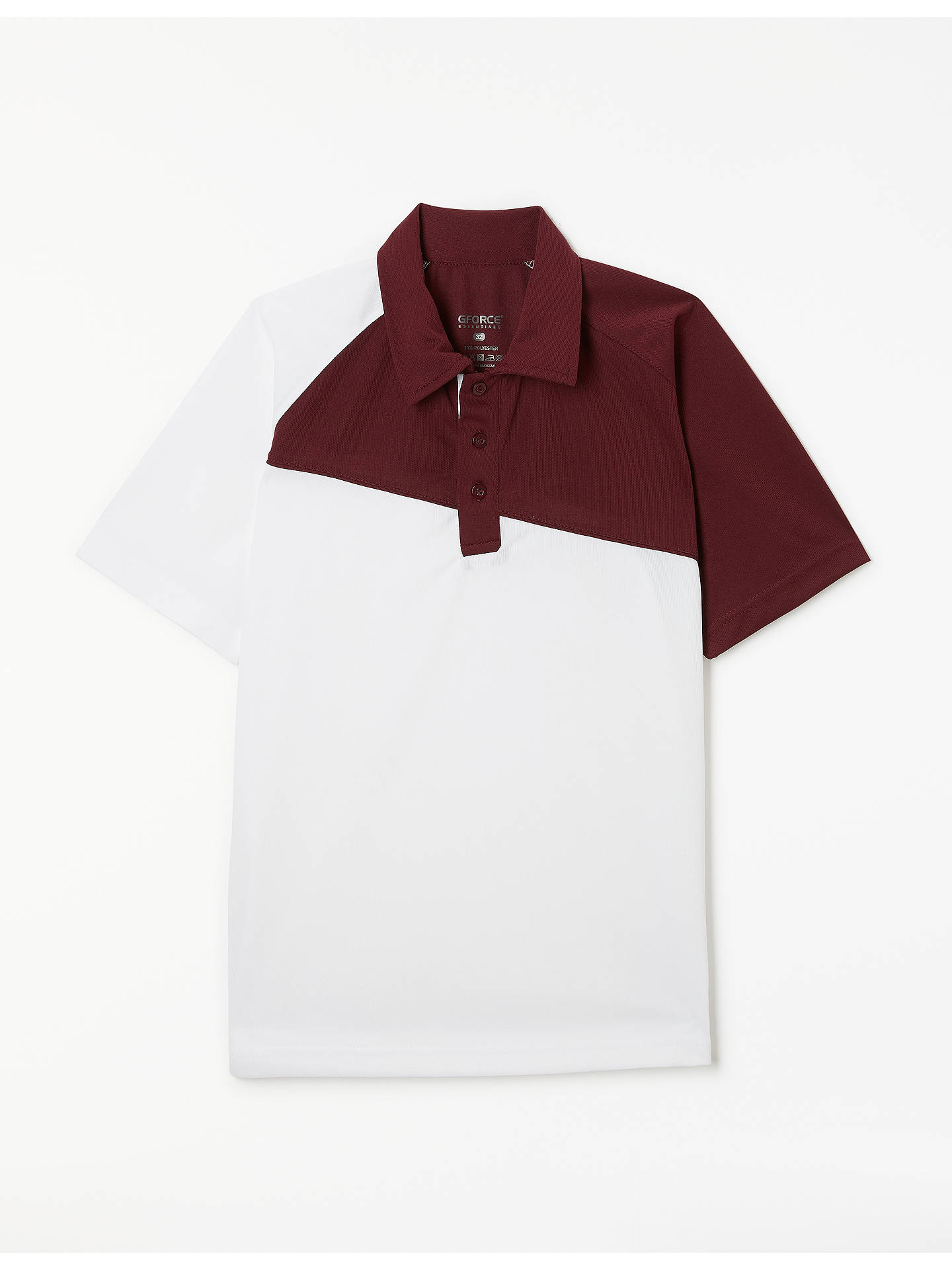 Chigwell School Lambourne House Polo Shirt White With Maroon Panel