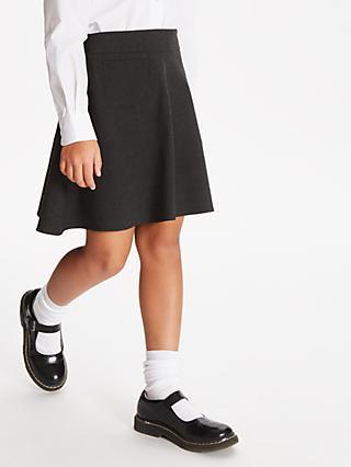 1526ddc301 John Lewis & Partners Girls' Easy Care Adjustable Waist A-Line School Skirt