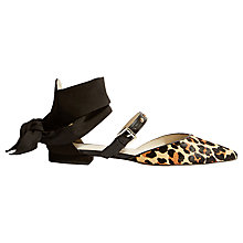 Buy Karen Millen Soft Tie and Stud Pumps, Leopard Online at johnlewis.com